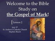 the Bible Study on - St. Andrew Catholic Church
