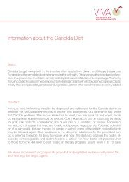Information about the Candida Diet