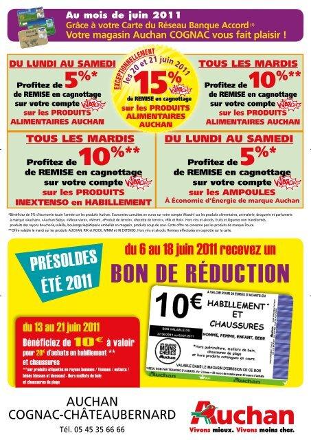 Carte Auchan Reduction.Bon De Raƒa Duction Auchan