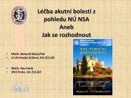 Léčba akutní bolesti z pohledu NÚ NSA Aneb Jak se rozhodnout