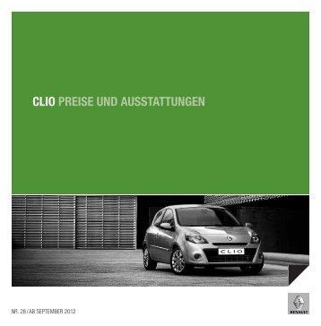 CLIO PREISE UND AUSSTATTUNGEN - Renault