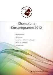 Champions Kursprogramm 2012 - Champions-Implants
