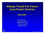 Display Trends For Future (Low Power) Devices - SID