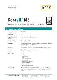 Korasit® MS 1. Produktbeschreibung - KORA Holzschutz