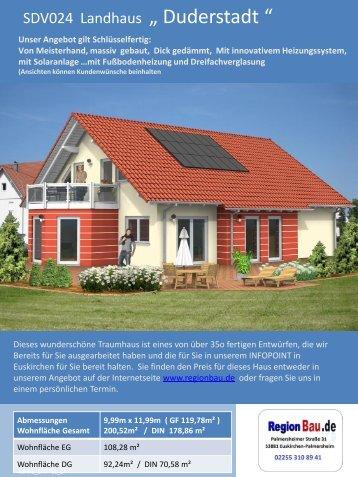 """SDV024 Landhaus """" Duderstadt """""""