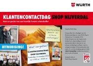 KlaNTeNcONTacTDaGshOp NIjverDal - Würth Nederland