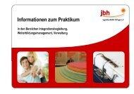 Informationen zum Praktikum - Jugendberufshilfe Thüringen e.V.