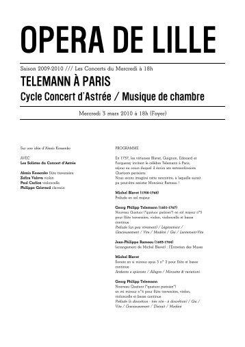 TELEMANN À PARIS - Opéra de Lille