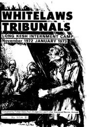 Whitelaw's Tribunals, Long Kesh Internment Camp, Nov.1972 - CAIN