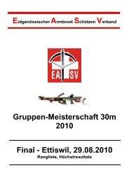 EASV Gruppenmeisterschaft 2010 - ZKAV