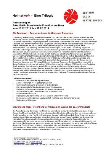 Information zur Ausstellung - Zentrum gegen Vertreibungen