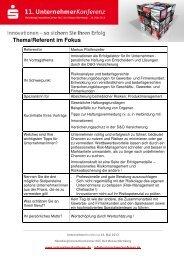 Schwerpunkte (PDF) - UnternehmerKonferenz.de