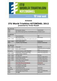 ITU World Triathlon KITZBÜHEL 2012
