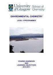 Envir-Chem-4H handbook -2010-11 - School of Chemistry ...