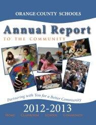 Annual Report 2012-2013 - Orange County Schools