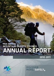 2010 - 2011 Annual Report - New Zealand Mountain Safety Council