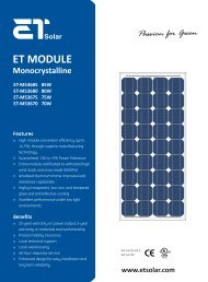 ET MODULE - Select Solar
