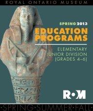 Elementary Junior Division Grades 4 - 6 - Royal Ontario Museum