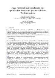 Ein spezifischer Ansatz zur gesamtheitlichen Werksimulation
