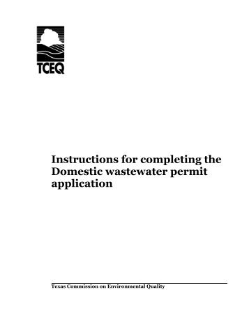 Instructions for completing the Domestic ... - TCEQ e-Services