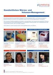 Ganzheitliches Wärme- und Volumenmanagement - gd medical AG