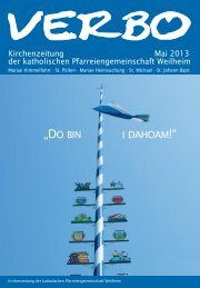 """""""DO BIN I DAHOAM!"""" - Katholische Pfarreiengemeinschaft Weilheim"""