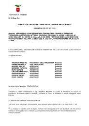 Variante al PRG adottata con atto C.C. n. 42 del 26/10/2009