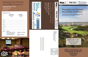 Managing Your Business Successfully Conference Managing Your ...