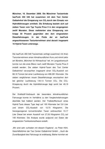IsarFunk Pressemeldung - München für Klimaschutz