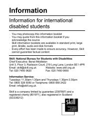 International disabled students - Trailblazers
