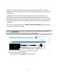 MIL Site User Guide - Media & Information Literacy