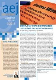 information 2/2013 - Arbeitsgemeinschaft der Evangelischen Jugend