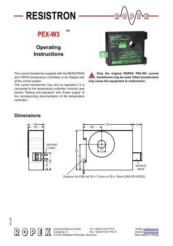 RESISTRON PEX-W3 GB Operating Instructions