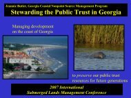 Stewarding the Public Trust in Georgia - Marine Conservation ...