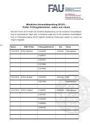 Mündliche Universitätsprüfung 2012/II - Fachbereich ...