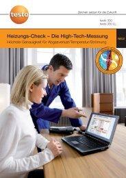 Heizungs-Check – Die High-Tech-Messung