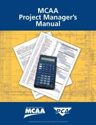 MCAA Project Manager's Manual