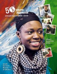 annual report 2009–2010 - Youth Services Bureau