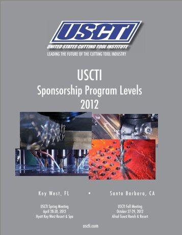 Sponsorship Program Levels 2012 - USCTI