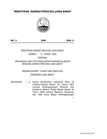 peraturan daerah provinsi jawa barat - Badan Pembinaan Hukum ...
