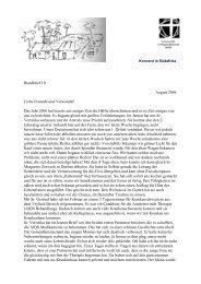 Rundbrief 10 August 2006 Liebe Freunde und Verwandte! Das Jahr ...