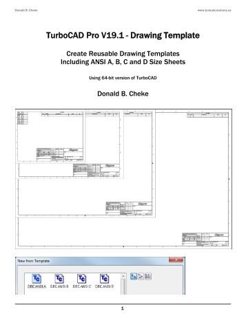 turbocad templates free turbocad pro v17 2 drawing template sample textual creations