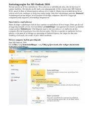 Opsæt sorteringsregel i Microsoft Outlook 2010 - DLG Tele