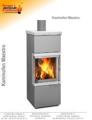 Kaminofen Maestro - Feuer & Flamme