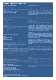 general terms and conditions - Camping Union Lido Vacanze