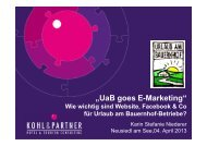 UaB goes E-Marketing_Karin Niederer - Urlaub am Bauernhof