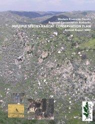 2007 Annual Report - Western Riverside County Regional ...