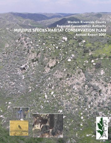 2007 Annual Report - Western Riverside County Regional ...
