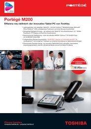 Effizienz neu definiert: der innovative Tablet PC von Toshiba.