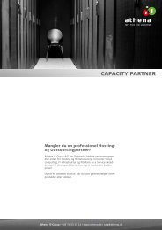 Capacity Partner Program - Athena
